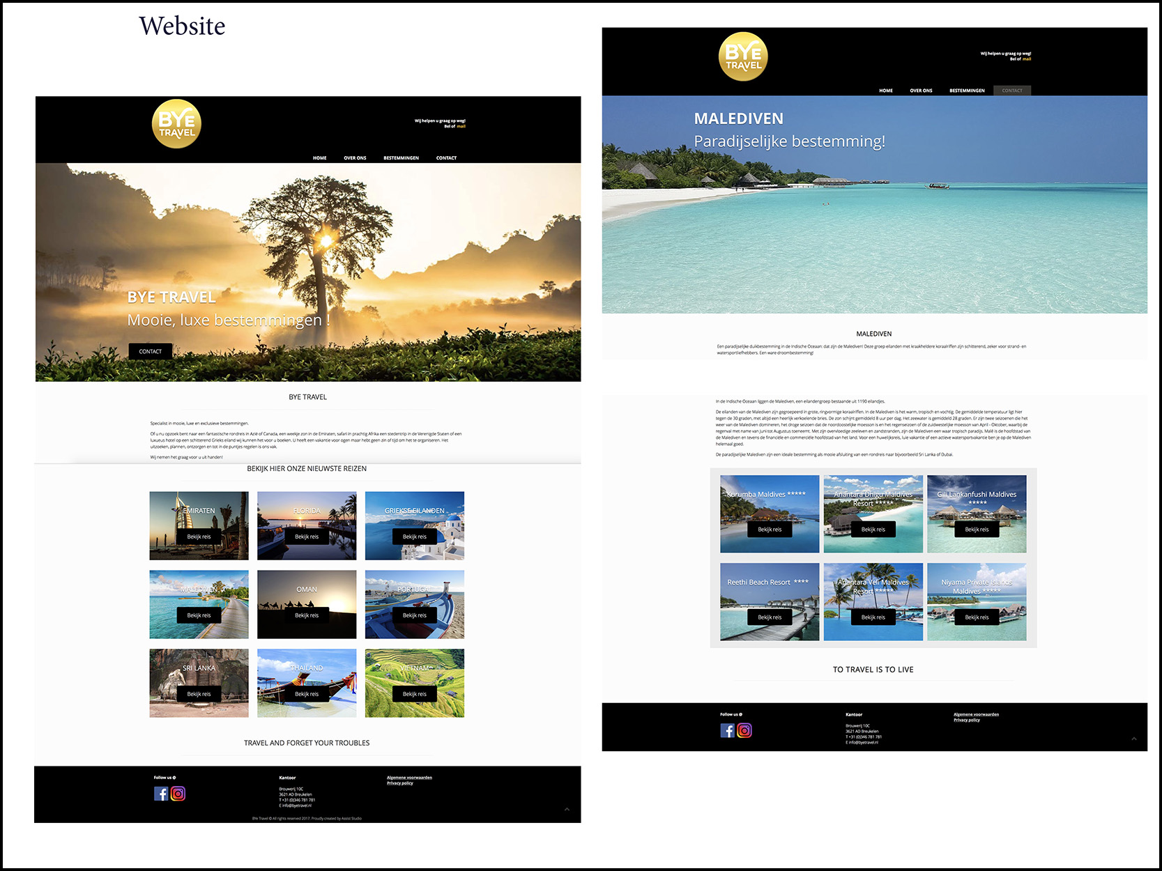 website reisbureau ByeTravel