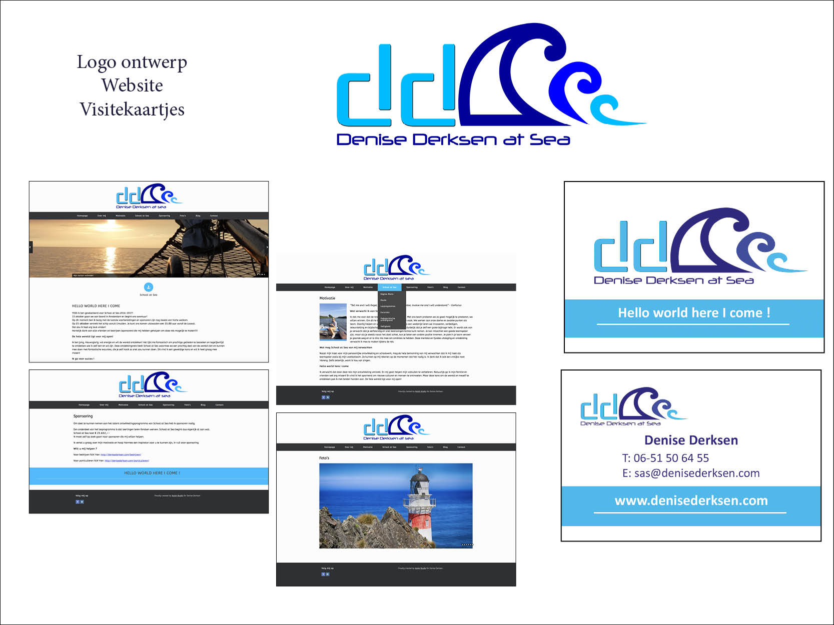 website visitekaartjes
