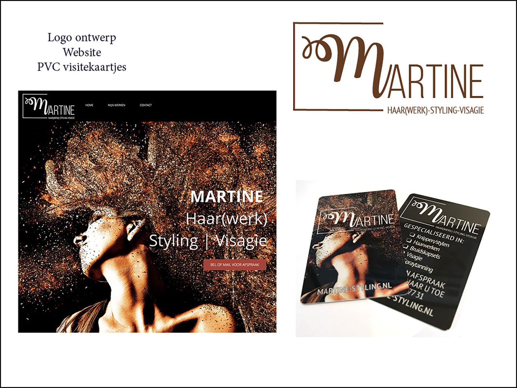 visitekaartjes logo ontwerp Martine-Styling