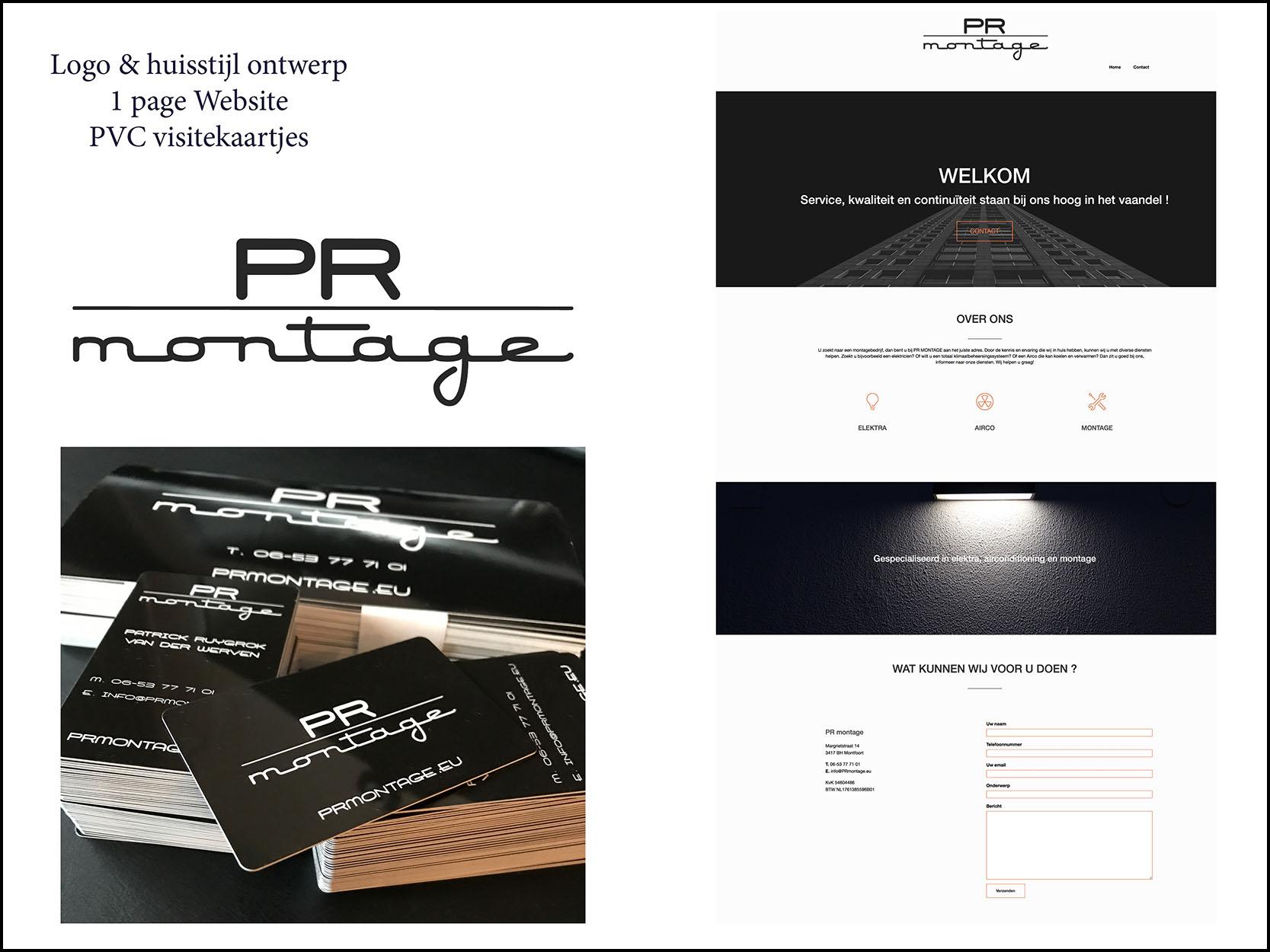 logo ontwerp website PRmontage