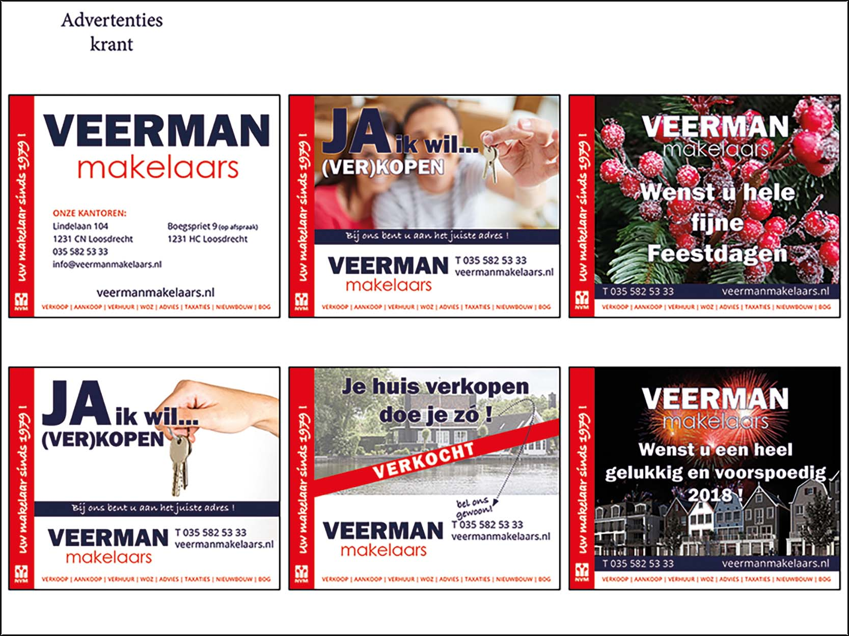 advertenties Veerman Makelaars