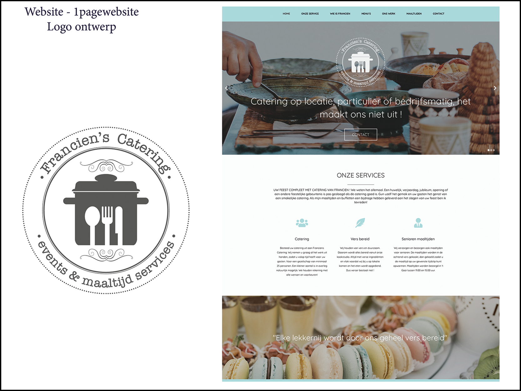 Franciens Catering website