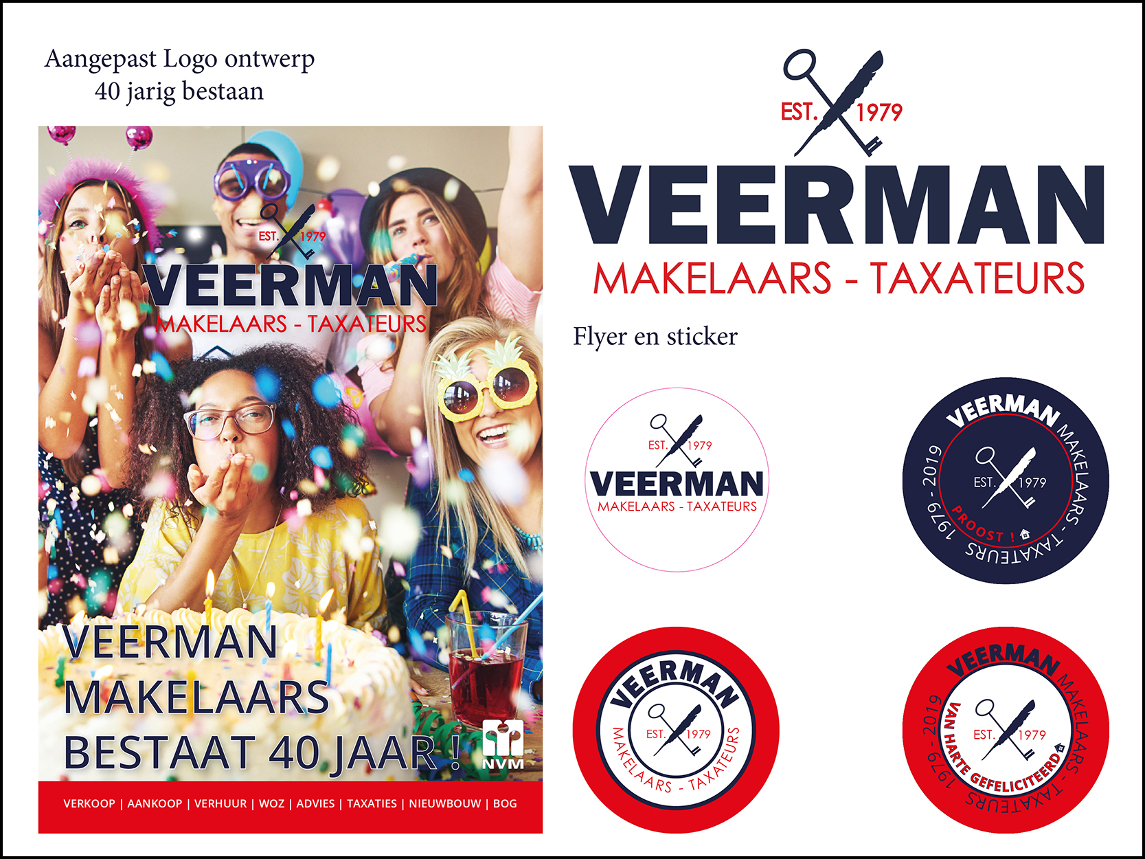 Veerman Makelaars Flyer sticker